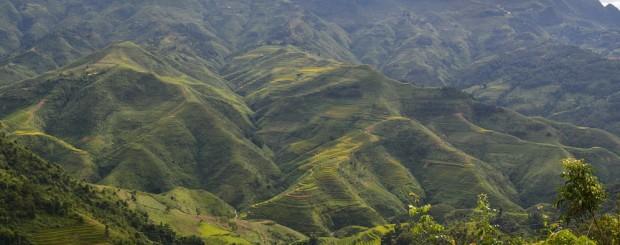 Mountain scenry from Yen Minh heaven gate