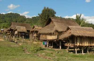 Akha village - MuangSing in Laos