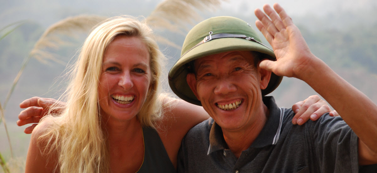 Cycling and meet up the real Viet Cong man on Ho Chi Minh Trail