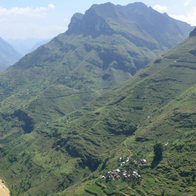 NhoQue river seen from Mapileng pass - HaGiang