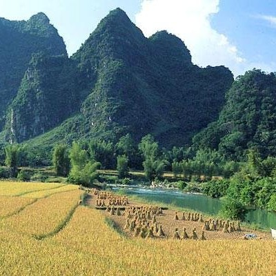 Scenery of Trung Khanh district. CaoBang.