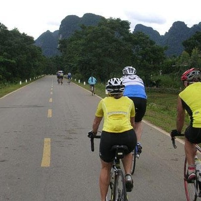 Cycling Ho Chi Minh trail 2007 - Limestone Karst near Phong Nha national park.
