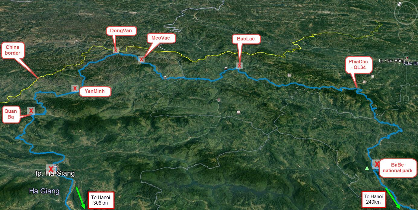 HaGiang Karst Mountain map